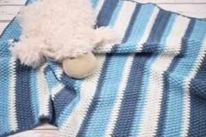 Hæklet Babytæppe i puff stitches