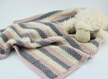 Hæklet Babytæppe - Velvet/velour
