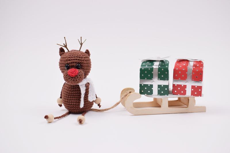 Hæklet Rensdyr - Rudolf