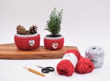 Cotton julekurve med sølv og hjerte