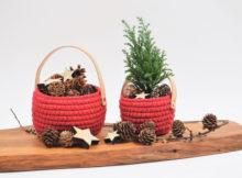 Cotton julekurve med læderhank