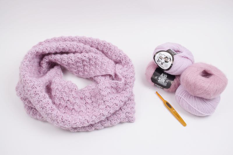 Hæklet Tubetørklæde - Dobbelt