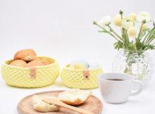 Ribbon påske brødkurve