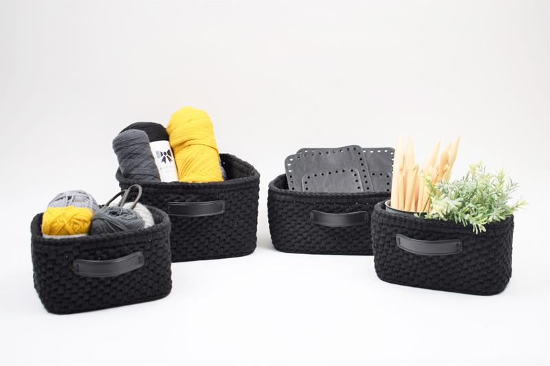 Kurve og dekorationsbakker med læderbund