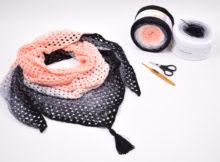 Hæklet granny sjal - Version 1 - Twirls
