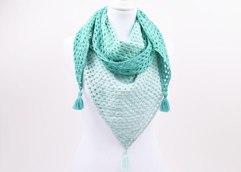 Hæklet granny sjal - Version 2 - Twirls