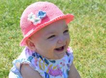 Hæklet sommerhat - Barn