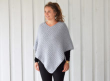 Autumn waves poncho