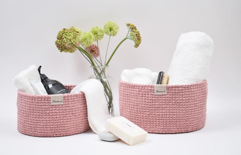 Ribbon kurve - Rund med læderbund - Knit stitch