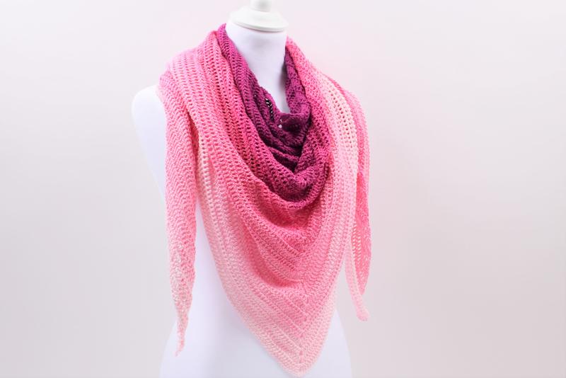 Simple Lines - Hæklet sjal