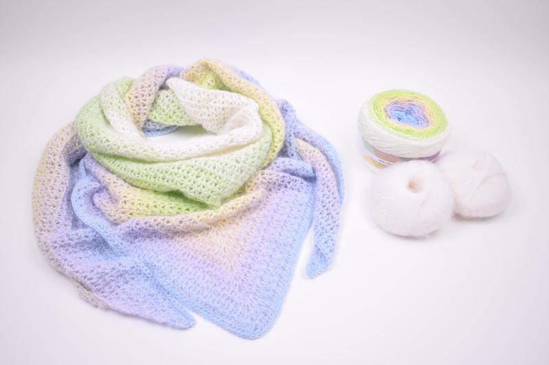 Winter Happiness - Hæklet sjal