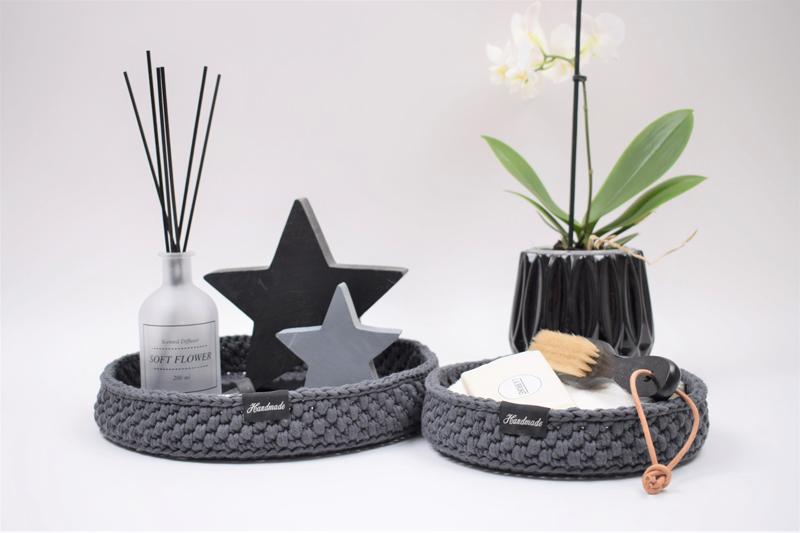 Dekorationsbakker med rund læderbund