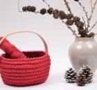 Ribbon Julekurv med læderhank