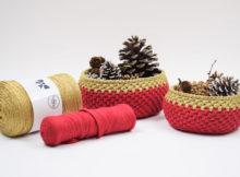 Ribbon Julekurve med Lurex
