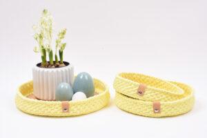 Påske Dekorationsbakker med læderbund