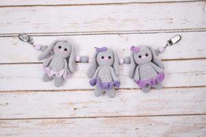 Baby Bunnies Barnevognskæde - Girls