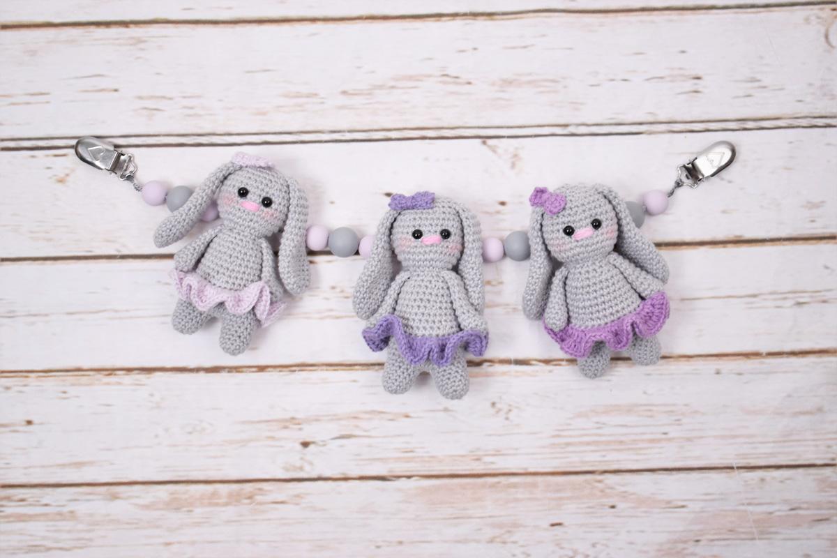 Baby Bunnies Barnevognskæde Girls | Tante tråd